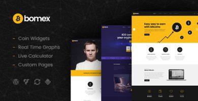 قالب Bomex - قالب سایت کریپتوکارنسی و بیتکوین