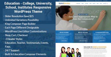 Education WP - قالب وردپرس آموزشی