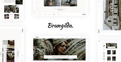 قالب Brungilda - قالب وردپرس عکاسی