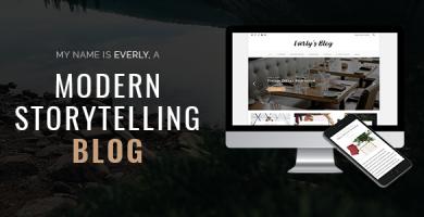 قالب Everly Blog - قالب وبلاگ وردپرس