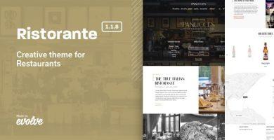 قالب Ristorante - قالب وردپرس رستوران