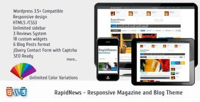 قالب RapidNews - قالب مجله ریسپانسیو