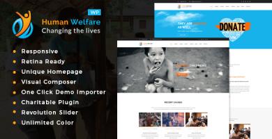 قالب Human Welfare - قالب وردپرس خیریه
