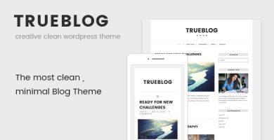 قالب TrueBlog - قالب وردپرس ساده