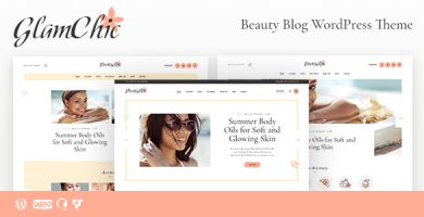 قالب GlamChic - پوسته سایت وردپرس مجله زیبایی