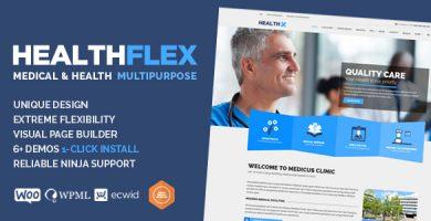 قالب HEALTHFLEX - قالب وردپرس پزشکی و سلامتی