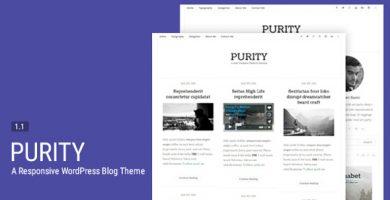 قالب Purity - قالب وبلاگ وردپرس