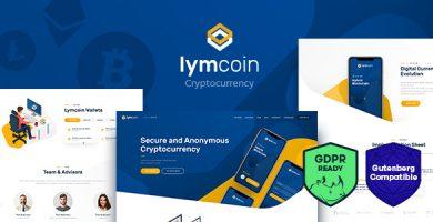 قالب Lymcoin - قالب وردپرس ارز دیجیتال