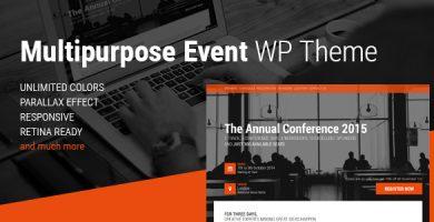قالب Event - قالب وردپرس کنفرانس و رویداد