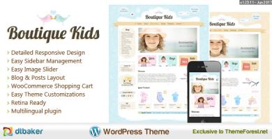 قالب Boutique Kids - قالب وردپرس خلاق