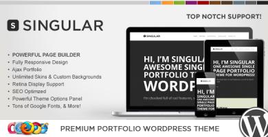 WP Singular - قالب وردپرس تک صفحه ای