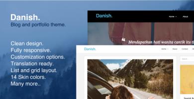 قالب Danish - قالب وردپرس نمونه کار و بلاگ