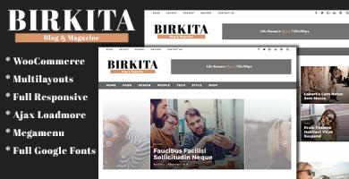 قالب Birkita - قالب مجله و وبلاگ برای وردپرس