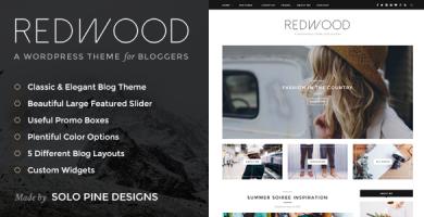 قالب Redwood - قالب وبلاگ وردپرس