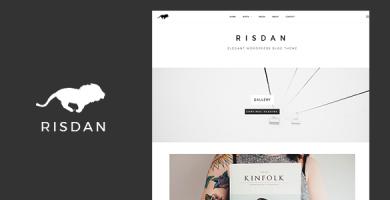 قالب Risdan - قالب وردپرس سایت شخصی