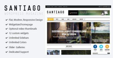 قالب Santiago - قالب ریسپانسیو مجله برای وردپرس