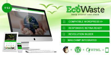 قالب EcoWaste - قالب وردپرس محیط زیست