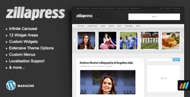 قالب ZillaPress - قالب وردپرس مجله