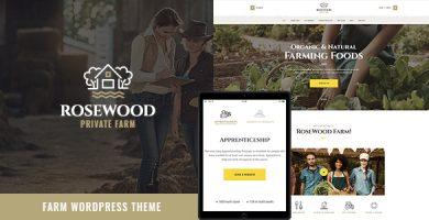 قالب Rosewood - قالب وردپرس کشاورزی ارگانیک