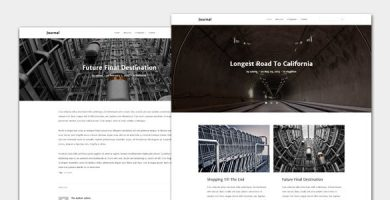 قالب Journal - قالب مجله و وبلاگ