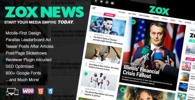 قالب Zox News - قالب وردپرس خبری و مجله ای حرفه ای