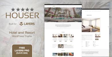 قالب Houser - قالب سایت هتل و استراحتگاه