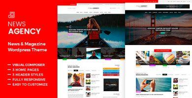 قالب NewsAgency - قالب وردپرس مجله و روزنامه