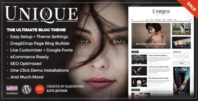 قالب Unique - قالب وبلاگی شخصی و مجله ای وردپرس