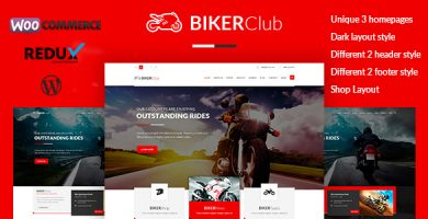 قالب Biker Club - قالب وردپرس