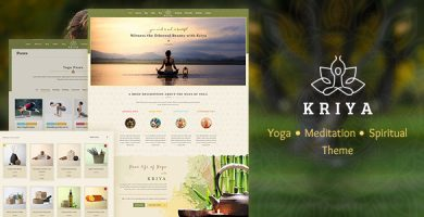قالب Kriya Yoga - قالب وردپرس یوگا و سلامتی
