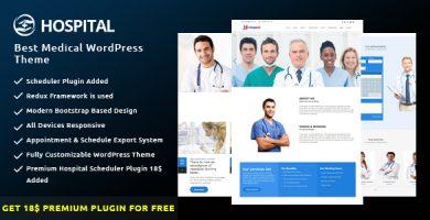 قالب Hospital - بهترین قالب وردپرس پزشکی