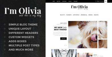 قالب Olivia - قالب وردپرس ویلاگی ساده