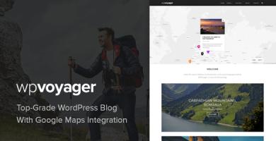 قالب WPVoyager - قالب وردپرس وبلاگ سفر