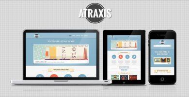 Atraxis - قالب وردپرس نمونه کار خلاقانه