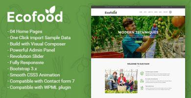 قالب Ecofood - قالب وردپرس محصولات اورگانیک