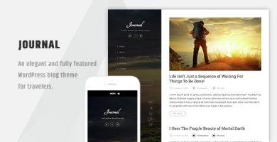 قالب Journal - قالب بلاگی وردپرس زیبا