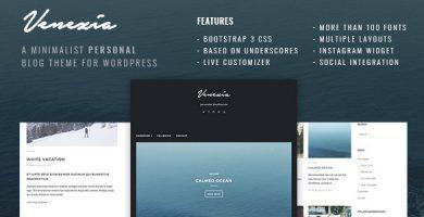قالب Venezia - قالب وردپرس سایت شخصی