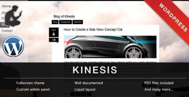 قالب KINESIS - قالب وردپرس