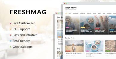 قالب Freshmag - قالب وردپرس مجله ای