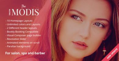 قالب Modis - قالب وردپرس سالن آرایش و زیبایی