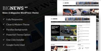 قالب Big News - قالب وردپرس روزنامه
