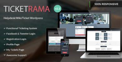 قالب Ticketrama - قالب وردپرس تیکت و پشتیبانی