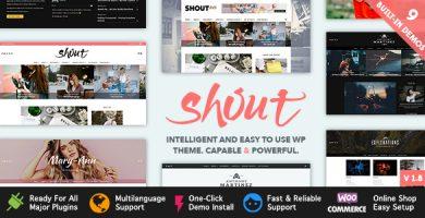 قالب Shout - قالب بلاگ وردپرس