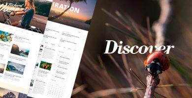 قالب Discover - قالب وردپرس سایت گردشگری و سبک زندگی