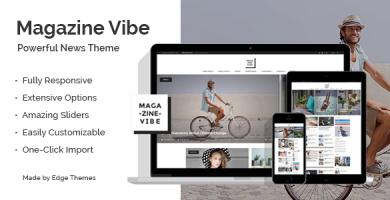 قالب Magazine Vibe - قالب خبری مجله ای وردپرس