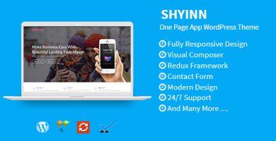 قالب Shyinn - قالب وردپرس تک صفحه ای برای اپلیکیشن