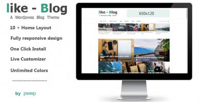 قالب Like Blog - قالب وردپرس وبلاگی