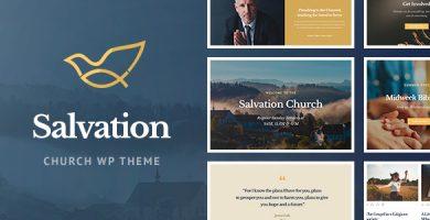 قالب Salvation - قالب وردپرس مکان های مذهبی