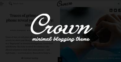 قالب Crown - قالب وبلاگی مینیمال