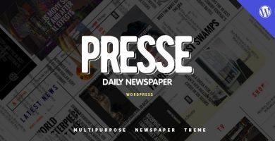 قالب Presse - قالب وردپرس برای سایت مجله خبری